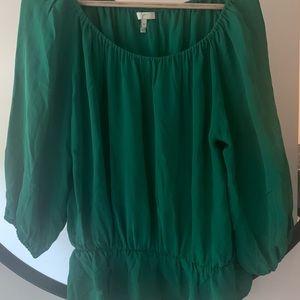 Jade green silk Joie blouse